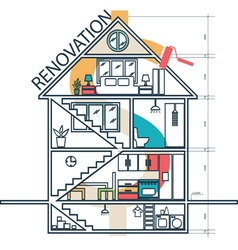concept house remodeling infographic vector image