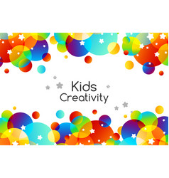 creative kids cards with colorful bubble vector image