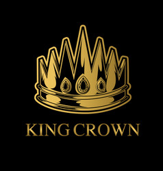 crown king and queen crown royal princess vector image