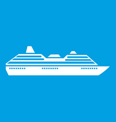 Cruise ship icon white vector