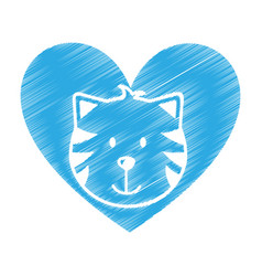 cute cat mascot icon vector image vector image