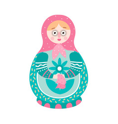 Cute colorful handcrafted russian ornamental vector