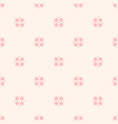 Cute vintage floral pattern for girls boys kids vector