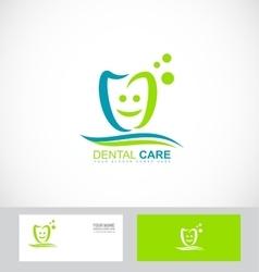 Dentist dental dentistry practice logo vector