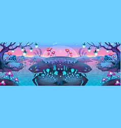 Fantasy nocturnal landscape vector