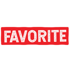 Favourite stamp typ vector