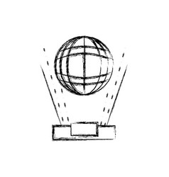 figure global digital connection network vector image