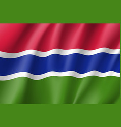 Gambia realistic flag vector