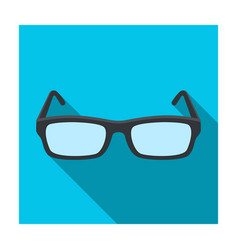 glasses icon in flat style isolated on white vector image