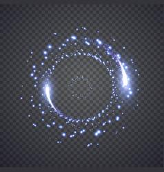glittering star dust lights circle vector image