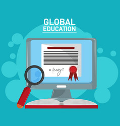 global distance education vector image