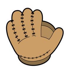 Glove baseball related icon image vector