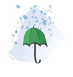 Green umbrella vector