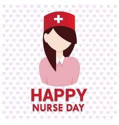 happy nurse day design vector image