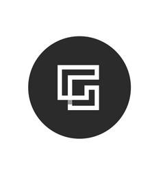 initial alphabet g logo concept vector image