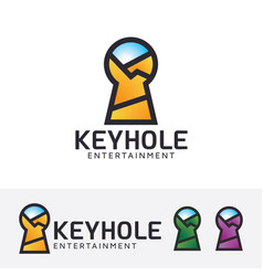 keyhole entertainment logo design vector image