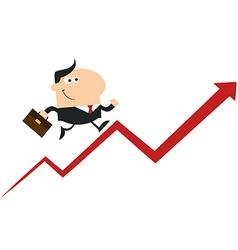 Man Running Up the Success Ladder Cartoon vector