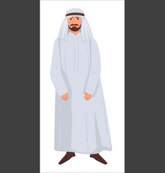 man wearing traditional islamic clothes for males vector image