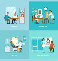 Medical treatment square composition vector