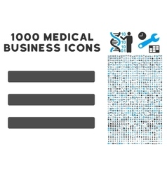 Menu Icon with 1000 Medical Business Pictograms vector image