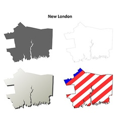 New London Map Icon Set vector image vector image