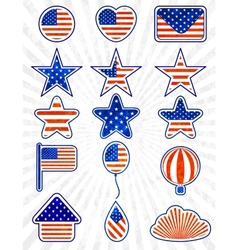 Object set of 4th July Independence day EPS10 vector image