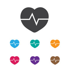 of lifestyle symbol on pulse vector image