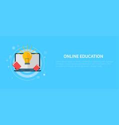 Online education banner vector