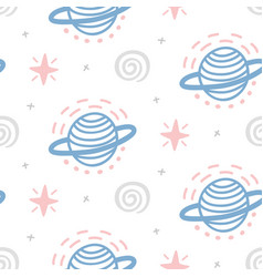 Outer space childish seamless pattern vector