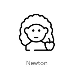 Outline newton icon isolated black simple line vector