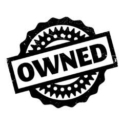 Owned rubber stamp vector
