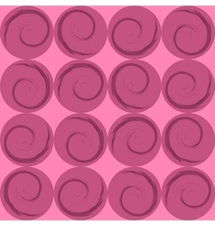 Pink circles with spirals wrapping paper vector