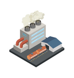 power station isometric 3d element vector image