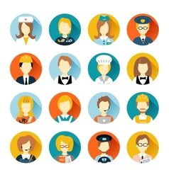 Profession avatar on circles vector