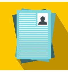 Resumes icon in flat style vector