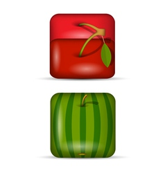 set 2 app icons fruits vector image