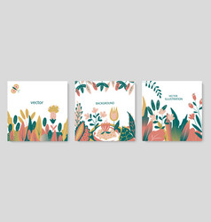 set abstract backgrounds trendy banners vector image