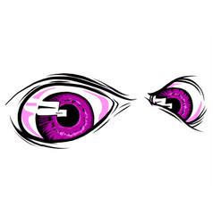 set creepy eyes halloween elements vector image