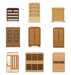 set wardrobe vector image