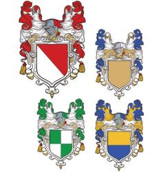 Shields emblems vector