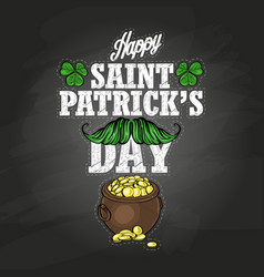 sticker for saint patricks day vector image