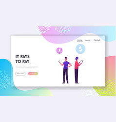 Swift payment transaction service website landing vector