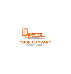 tex trailer logo design vector image