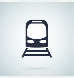 train icon vector image