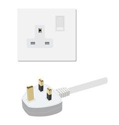 Uk socket and plug vector