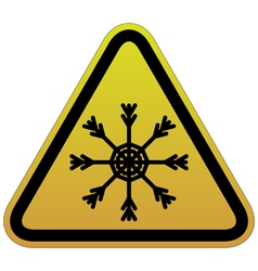 warning sign of snow vector image