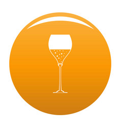 Wine glass icon orange vector