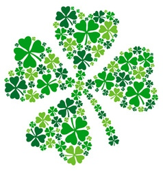 4 leaf clover lucky clover for St Patricks day vector image vector image