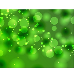 Abstract green Bokeh texture vector image vector image