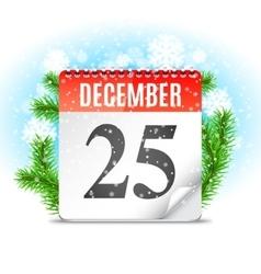 Christmas Day Calendar vector image